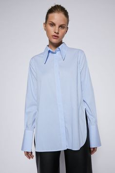COTTON STRIPE SHIRT - Scanlan Theodore Scanlan Theodore, Work Wear, Project 333, Ruffle Blouse, Shirt Dress, Denim, Mens Tops, Cotton, Shirts