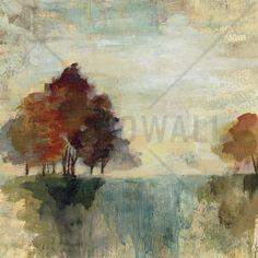 Landscape Monotype - Wall Mural