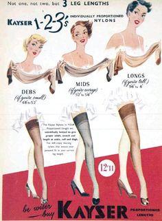 hollyhocksandtulips:  Kayser Stockings