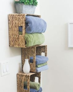 Small bathroom storage 824510644260556936 - Affordable Storage Solutions for Small Bathrooms – my wee abode Source by esierrasoria Bathroom Storage Solutions, Small Bathroom Storage, Small Bathrooms, Modern Bathrooms, Diy Storage, Storage Spaces, Wall Storage, Storage Baskets, Storage Ideas
