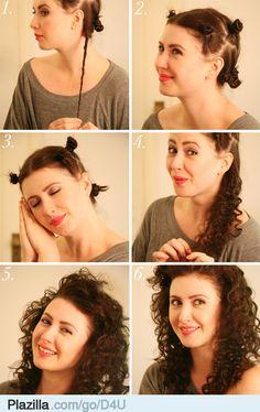 3 manieren om je haar te krullen zonder krultang - Plazilla.com