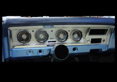 1968 Impala Custom Retro Instrument Cluster Dashboard Bezel, fitted to dash With Gauges Impala, Custom Cars, Convertible, Lowrider, Repurposing, Retro, American, Gauges, Vehicles