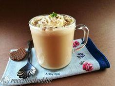 Kávés karamellás tej Yummy Drinks, Latte, Recipies, Beverages, Cooking Recipes, Pudding, Sweets, Cookies, Coffee