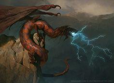 Stormbringer Dragon, Slawomir Maniak on ArtStation at https://www.artstation.com/artwork/lVQz5