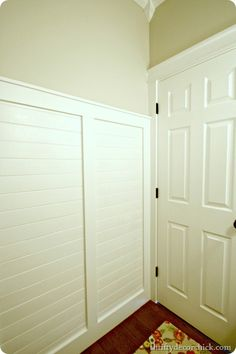 paneling covered with board and batten