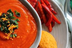 Butternut squash soup, Squash soup and Recipes with sweet potatoes on ...