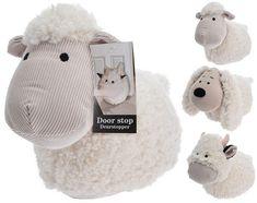 Animal Cow Sheep Dog Design Soft Cream Fabric Door Stop Doorstop Stopper Weight