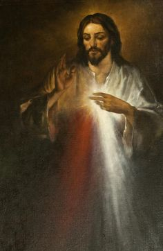 """""""Tell the world about My Mercy and My Love. I am consumed with a desire to pour out My Mercy on human souls. O, how they hurt Me when they refuse My Mercy. Faustina) Note: Jesus' Divine Mercy and Divine Messages are for All Denominations. King Jesus, God Jesus, Divine Mercy Image, Year Of Mercy, St Faustina, Catholic Religion, Catholic Art, Roman Catholic, Jesus Painting"""