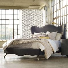 Hooker Furniture Melange Lana King Upholstered Bed