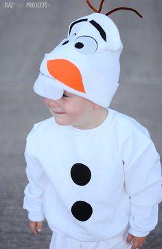 Easy No Sew Olaf Costume