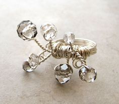 Swarovski Statement Ring Crystal Vine Branch by BellinaCreations, $40.00