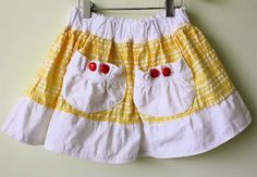 Collection of cute skirt tutorials *this specific one is from http://www.danamadeit.com/2008/07/tutorial-the-market-skirt.html
