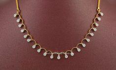 Simple Diamond Necklace Design