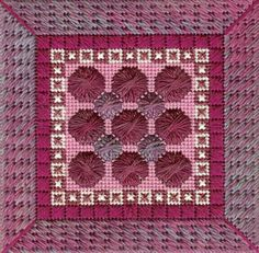 Color Delights Fuschia - Needlepoint pattern