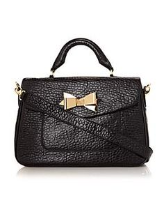 Bow leather satchel, Ted Baker