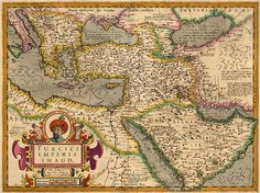 Map of the Ottoman Empire from the 1609 French edition of Mercator's Atlas, augmented and published by Hondius.