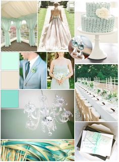 """Created this """"Mint To Be"""" inspiration board for White Blossom Weddings & Events! The whole blog post can be seen here!Check it :]"""