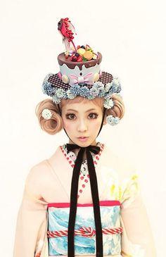Kimono fashion 2. Image via ameblo.jp