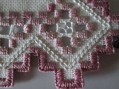 Hardanger Doily Norwegian Embroidery Cut Work Old rose New 2