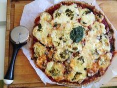 Pizza tomate mozzarella pesto et champignons – IG bas – Megalow Food