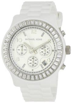 Michael Kors Watches Ladies Glitz Chronograph White Dial Watch