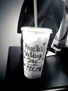 Wedding day Starbucks