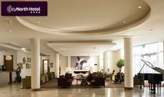 An offer from Pigsback.com Dublin Airport, City North, Best Hotels, Spa, Restaurant, Ceiling Lights, Table Decorations, Luxury, Modern