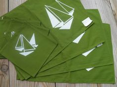 placemats and napkins | vintage Sailboat placemats and napkins set by SuburbanVintage