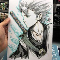 Hitsugaya Toushiro by Mr. Bleach Drawing, Manga Drawing, Manga Art, Manga Anime, Anime Art, Bleach Anime, Bleach Fanart, Copic Sketch, Anime Sketch