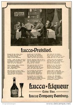 Original-Werbung/Inserat/ Anzeige 1902 - 1/1 SEITE : LUCCA LIQUEUR  - ca. 190 x 280 mm