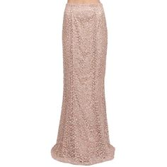 Kay Unger New York Sequin Lace Mermaid Skirt in Bisque ($271) ❤ liked on Polyvore featuring skirts, bottoms, maxi skirts, trend - shine on, sequin skirt, lace maxi skirts, pleated maxi skirt, brown maxi skirt and sequin maxi skirt