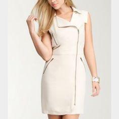 Nwt Bebe Zipper Detail Short Sleeve Dress Mrsp171!