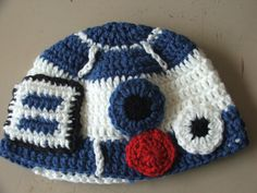 R2D2 beanie hat Crochet custom made to order  Star Wars  Adult child toddler infant newborn