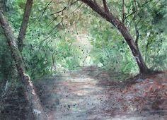 Aquarelle Trunks, Plants, Watercolor Painting, Drift Wood, Planters, Plant, Planting