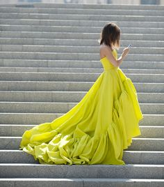 This chartreuse ball gown on Miroslava Duma was one of the standout looks from Jason Wu's polished S/S 12 collection.