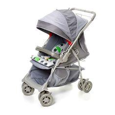 Carrinho para Bebê Maranello Cinza 1380 - Galzerano