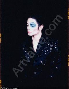 "Arno Bani, Michael Jackson ""a l'oil bleu"", photoshoot 1999"