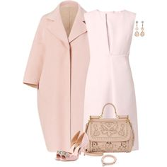 Sweet Pink by lisa-holt on Polyvore featuring moda, Jil Sander, Badgley Mischka, Dolce&Gabbana and Jordan Alexander
