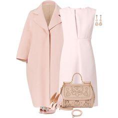 Sweet Pink by lisa-holt on Polyvore featuring moda, Jil Sander, Badgley Mischka, Dolce&Gabbana and Jordan Alexander