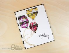 Sprinkled With Glitter: Wish Big Shaker Card