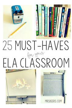 ELA classroom resources