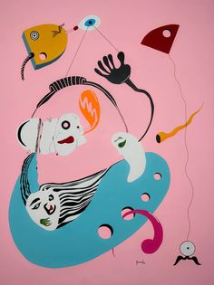 Myself at work Painting by Cristian Armenta | Saatchi Art Abstract Art, Pink Abstract, Joan Miro, Saatchi Art, Original Paintings, Surrealism, Buy Art, Canvas Art, Artwork Online