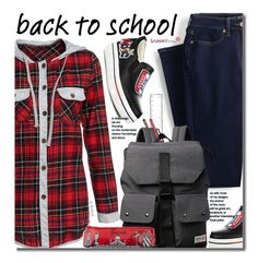 """""""Back To School"""" by beebeely-look ❤ liked on Polyvore featuring Lands' End, Harrods, BackToSchool, plaid, sammydress and back2school"""