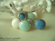 handmade polymer Clay stud earring designed by Boutique Lilianne fall/winter Collection 2014