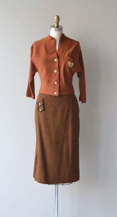 Crown Royale dress vintage 50s sweater and skirt by DearGolden