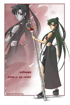 this is a picture done for the sailormoon+kingdomhearts-project. it shows sailor pluto with tifa's clothes. the other senshis: sailor moon: mamoru: sailor mercury: sailor mars: sailor jupiter:...