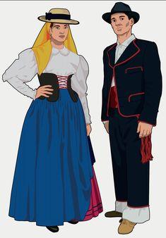 Canary Islands, Disney Characters, Fictional Characters, Folk, Spain, Costumes, Disney Princess, Design, World