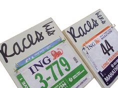 wedding gift race bibs display for her and him by runningonthewall, $46.00