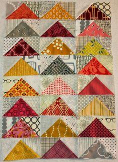 Quick Flying Geese Tutorial - Between Quilts: mooie kleurencombinatie!