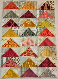 Quick Flying Geese Tutorial - Between Quilts: mooie kleurencombinatie!